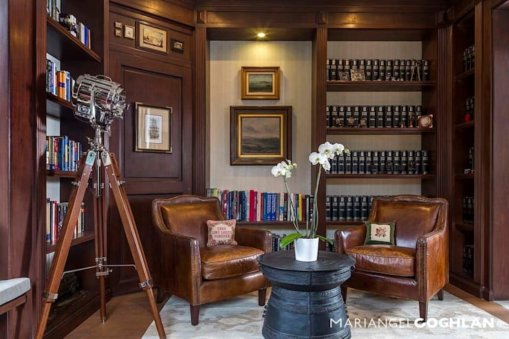 Biblioteca: Estudios y oficinas de estilo clásico por MARIANGEL COGHLAN