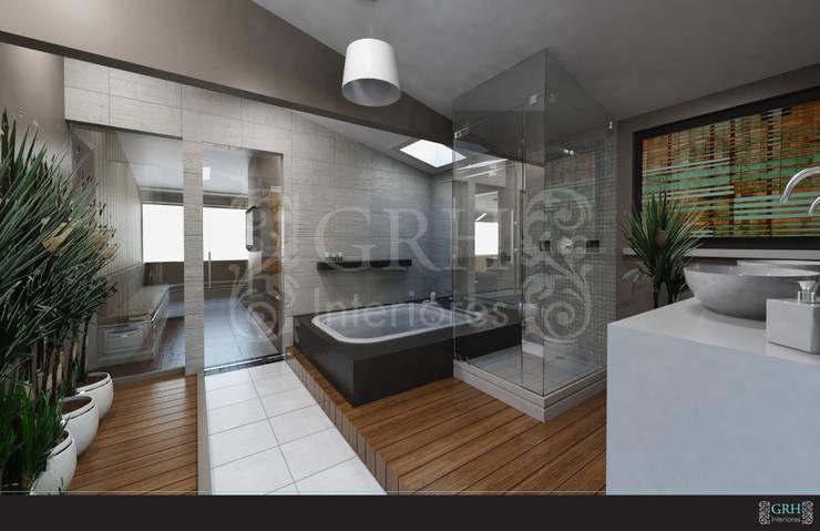 FAMILIA NEYRA : Baños de estilo  por GRH Interiores