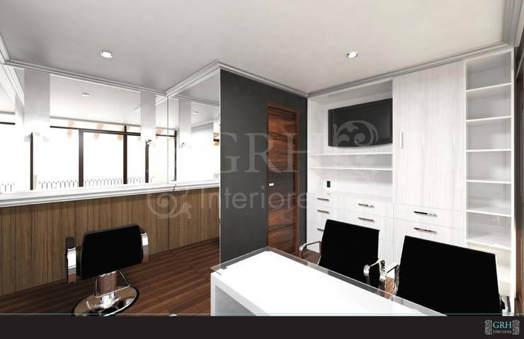 LAURA CALZADA SALÓN: Oficinas y tiendas de estilo  por GRH Interiores