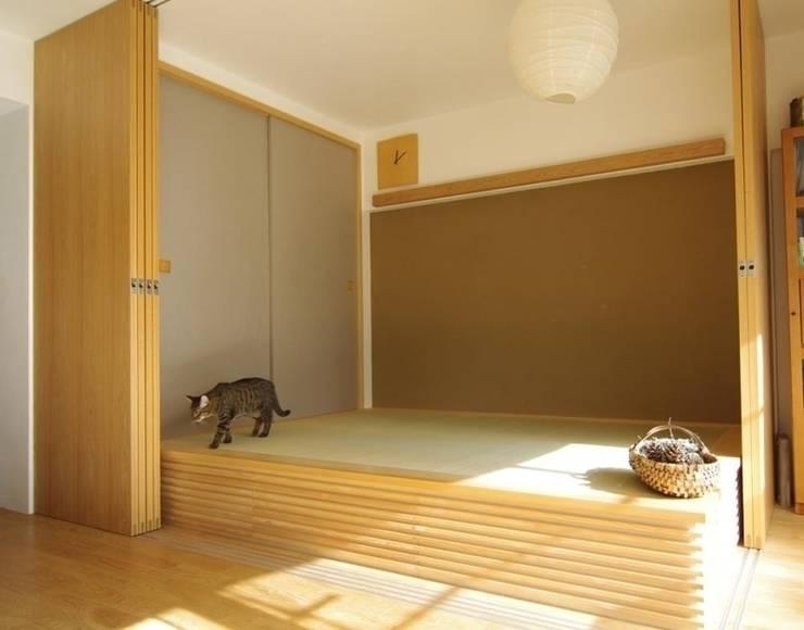 中古マンションのスケルトンリフォーム(東京 足立): Style is Still Living ,inc.が手掛けた和室です。