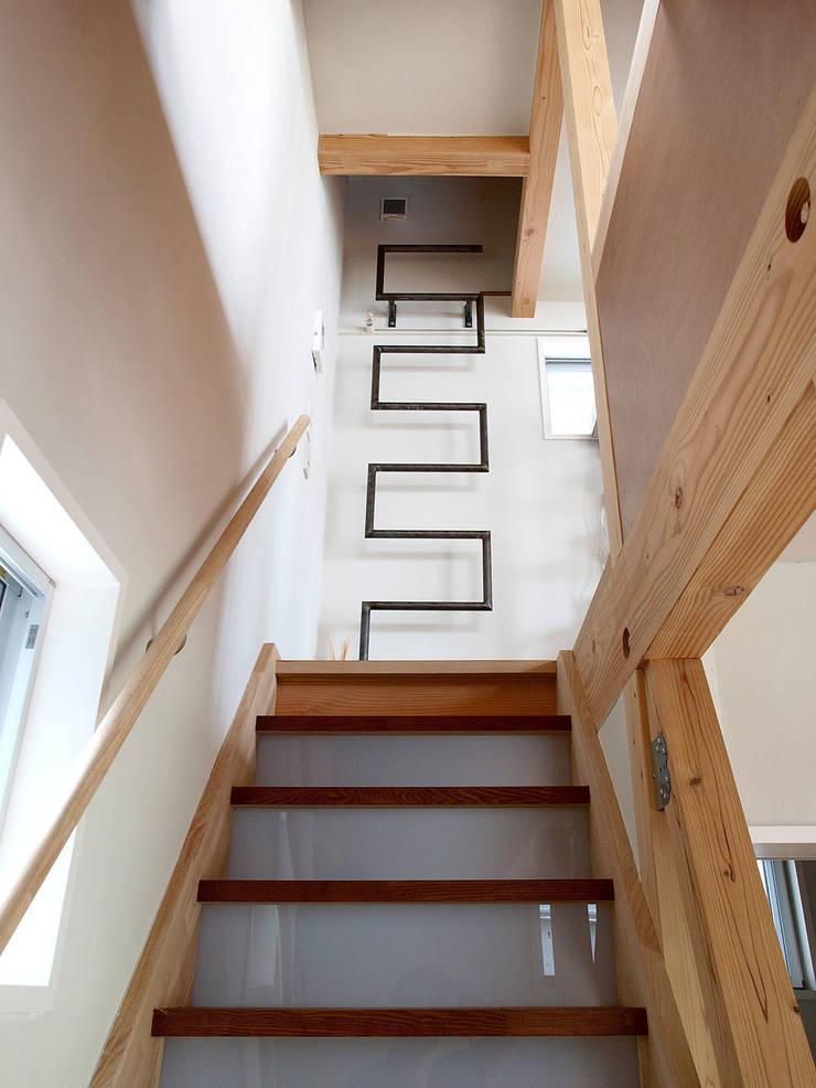【LWH002】階段: 志田建築設計事務所が手掛けた廊下 & 玄関です。,インダストリアル