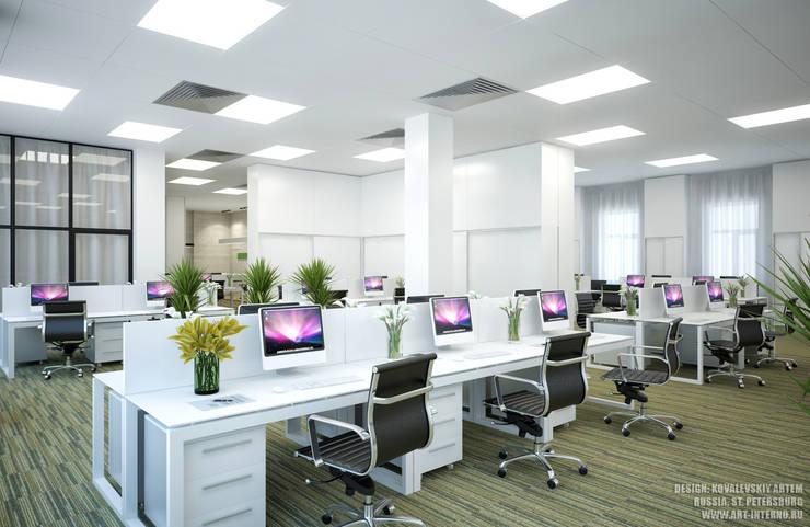 Офис, open space: Рабочие кабинеты в . Автор – ART-INTERNO