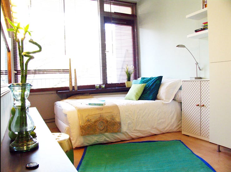 City oasis: eclectische Slaapkamer door Levenssfeer
