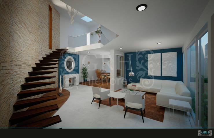 PROYECTO Medina: Salas de estilo  por GRH Interiores