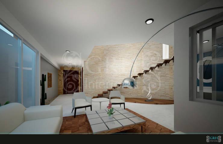 PROYECTO Medina: Pasillos y recibidores de estilo  por GRH Interiores