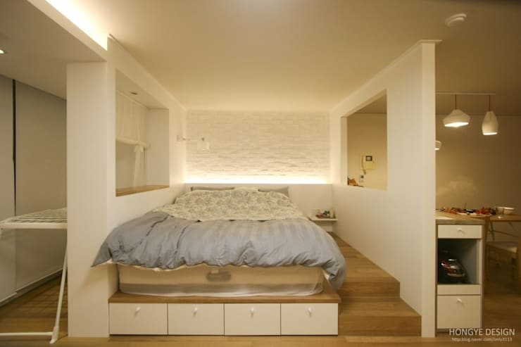 ห้องนอน by 홍예디자인