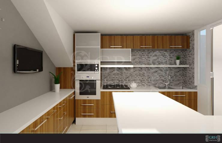 FAMILIA TGR: Cocinas de estilo  por GRH Interiores
