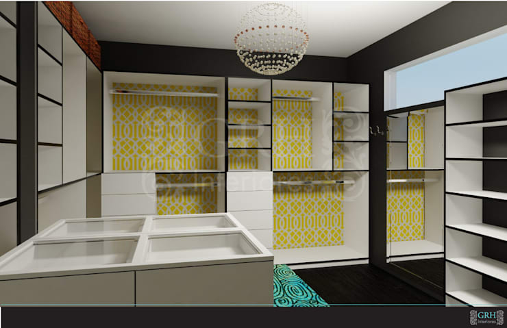 FAMILIA TGR: Vestidores y closets de estilo  por GRH Interiores