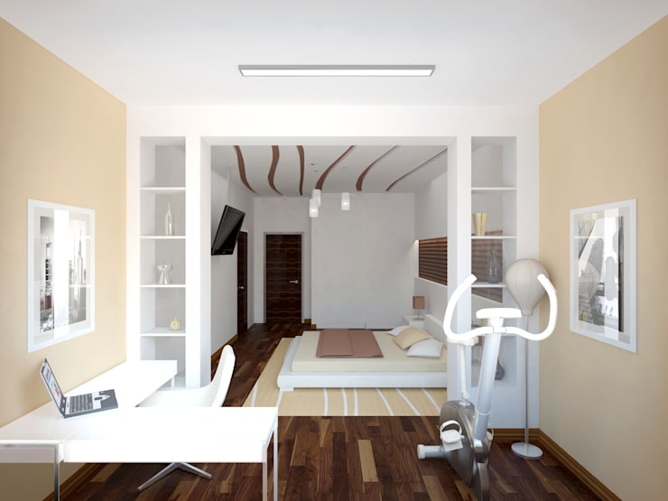 Industrial style bedroom by ООО 'Студио-ТА' Industrial