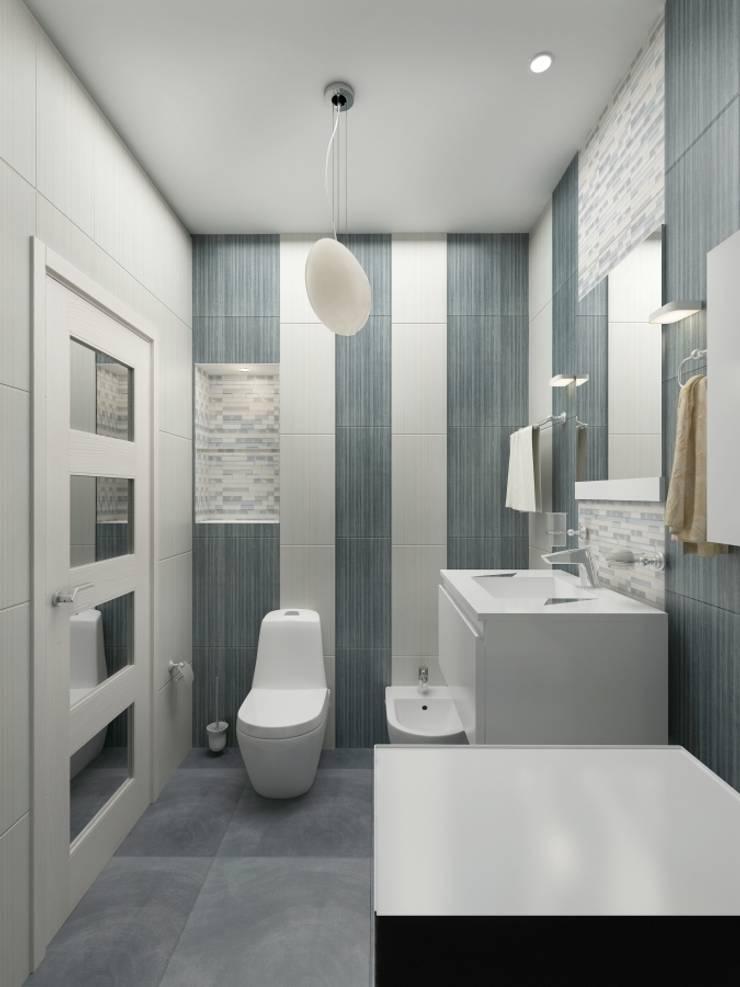 Ванные комнаты в . Автор – PLANiUM, Модерн
