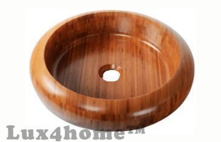 Umywalki z drewna - umywalka drewniana z dębu: styl , w kategorii Łazienka zaprojektowany przez Lux4home™