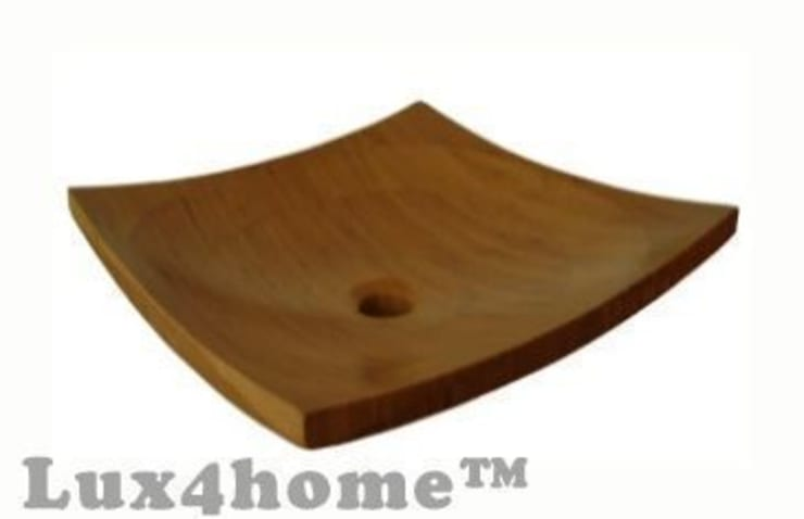 Umywalki z drewna - umywalka drewniana z bambusa: styl , w kategorii Łazienka zaprojektowany przez Lux4home™