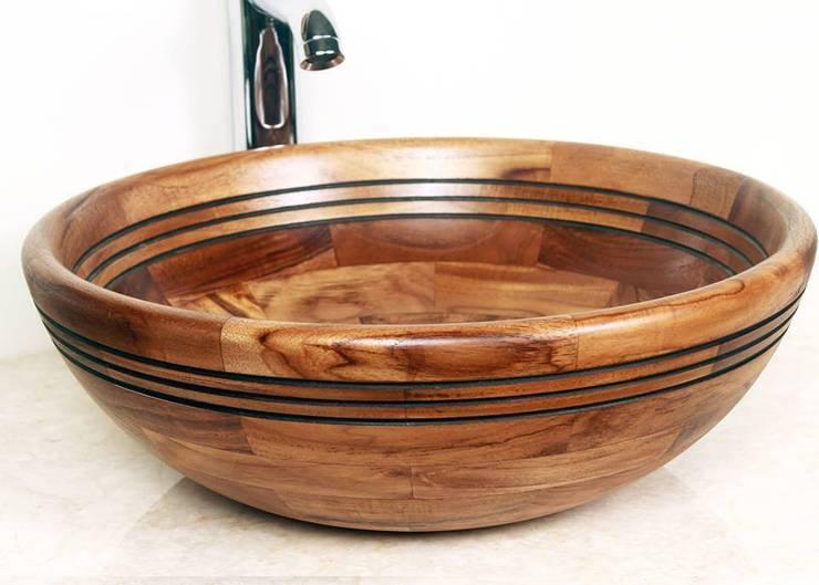 Umywalki z drewna - umywalka drewniana: styl , w kategorii Łazienka zaprojektowany przez Lux4home™
