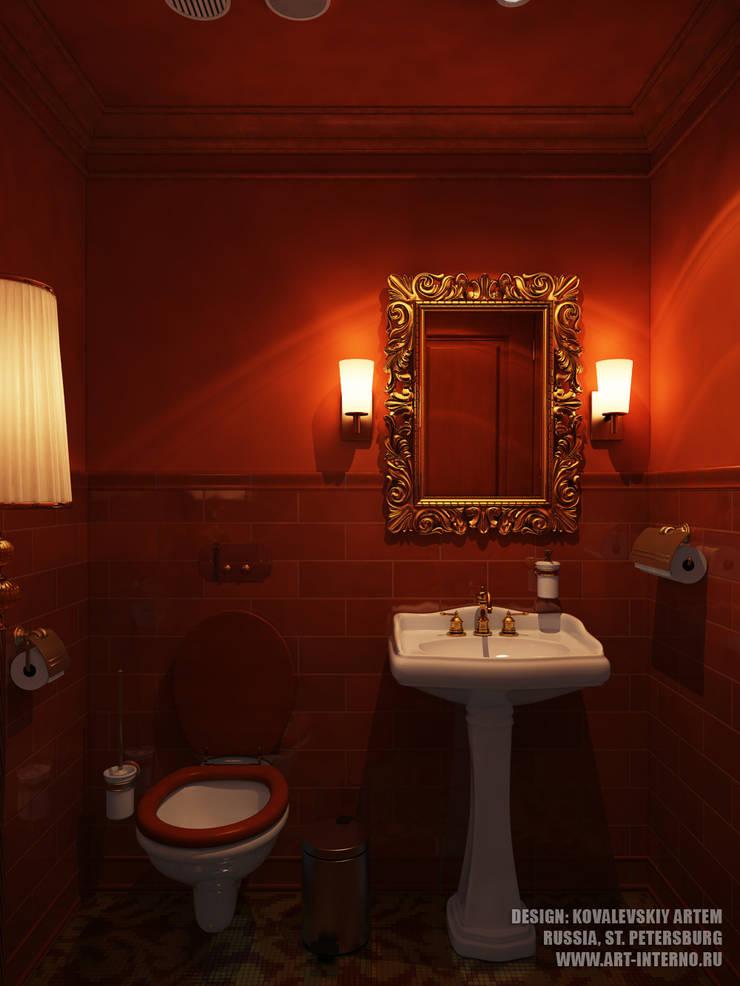 Санузел в баре: Ванные комнаты в . Автор – ART-INTERNO
