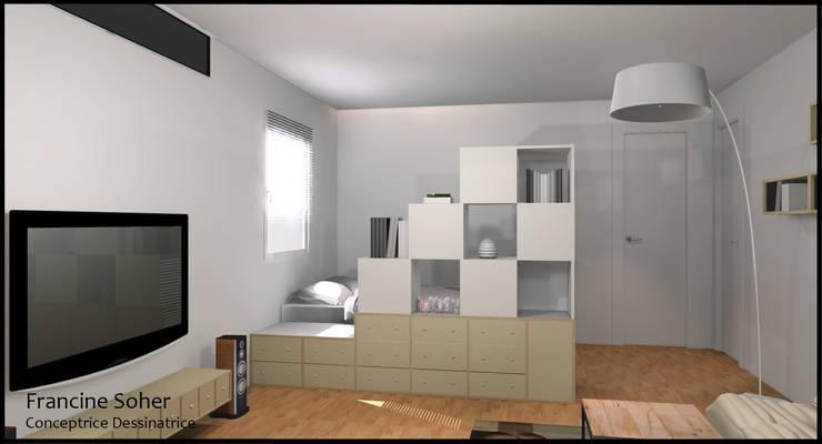 Dormitorios de estilo  por Francine Soher