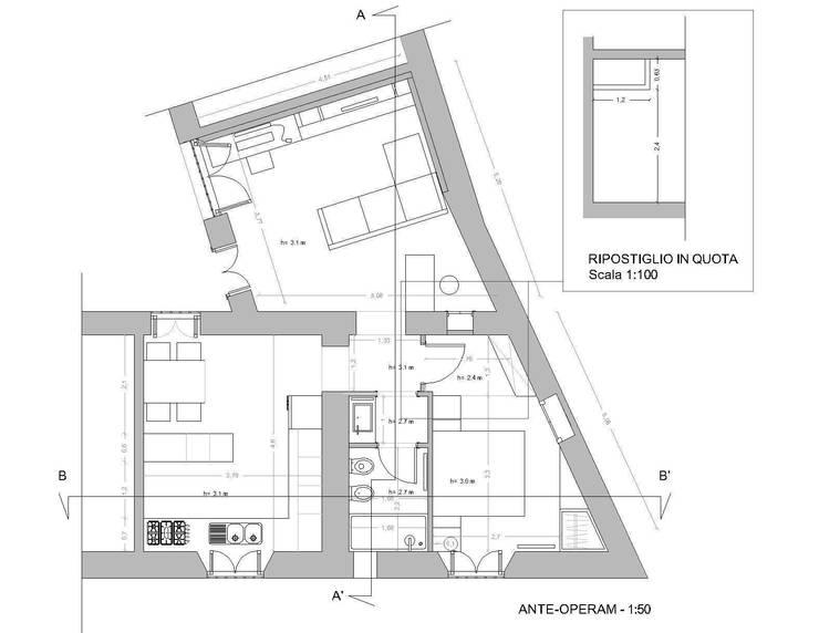 de estilo  por Studio di architettura Miletta