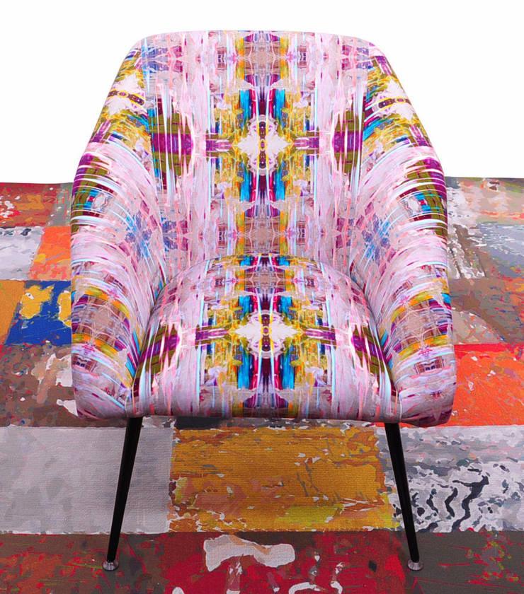 fotel klubowy muszelka/chance: styl , w kategorii  zaprojektowany przez Pracownia Reborn,Eklektyczny