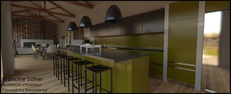 Mas: Cuisine de style de style Moderne par Francine Soher
