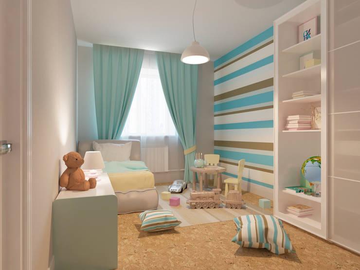 Современная квартира в Тюмени: визуализация: Детские комнаты в . Автор – OK Interior Design,