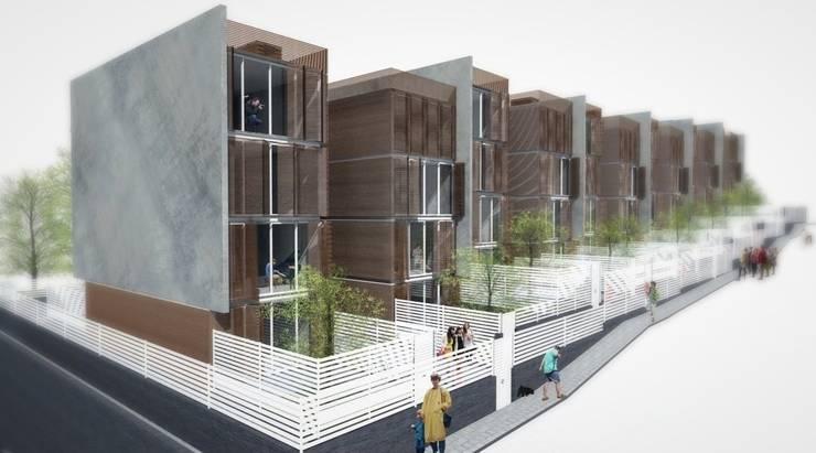 SOCIAL HOUSING - CONCORSO DI IDEE: Case in stile  di Nau Architetti,