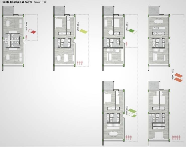 SOCIAL HOUSING – CONCORSO DI IDEE:  in stile  di Nau Architetti,
