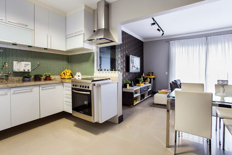 Cozinha integrada: Cozinhas modernas por Lo. interiores