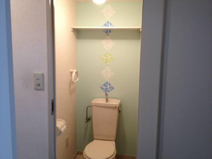 オーダーメイド壁紙(After②): Deco Cloth(デコクロス)が手掛けた壁&床です。