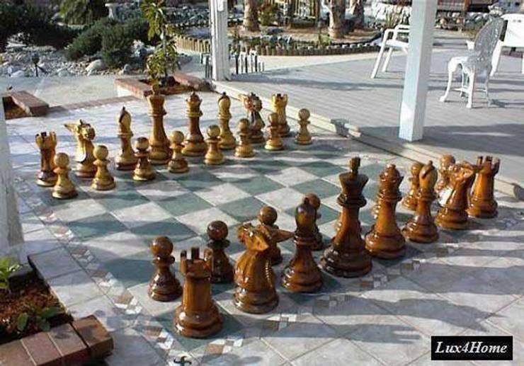 Szachy ogrodowe - drewniane szachy gigant: styl , w kategorii Ogród zaprojektowany przez Lux4home™