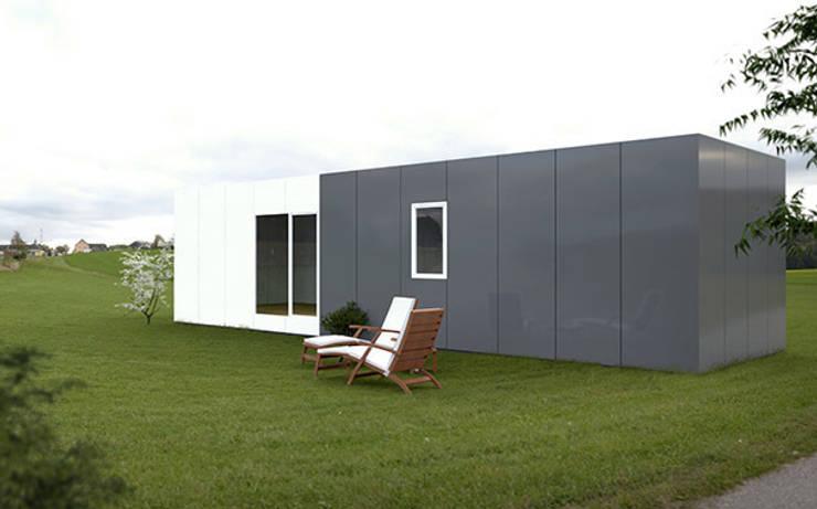Casa Cube Basic de 50 metros cuadrados: Casas de estilo  de Casas Cube