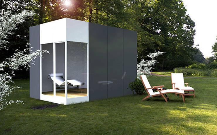 Módulo Basic de 12 metros cuadrados: Casas de estilo  de Casas Cube