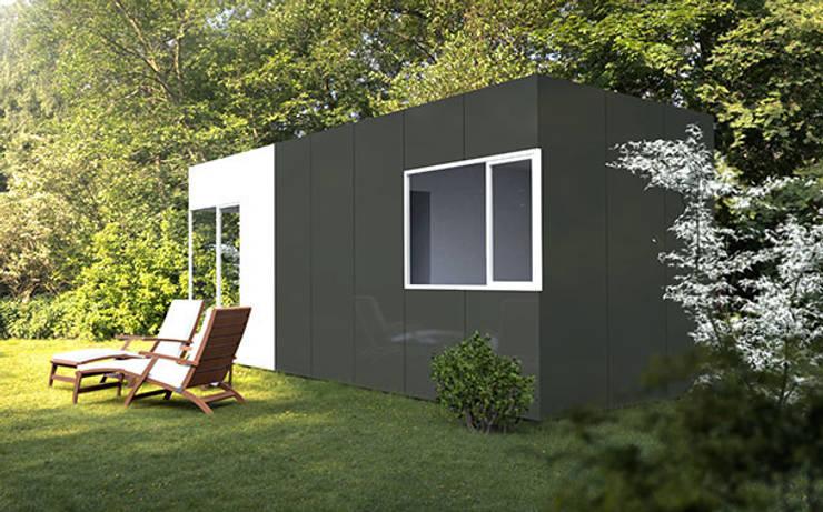 Módulo Basic de 24 metros cuadrados: Casas de estilo  de Casas Cube