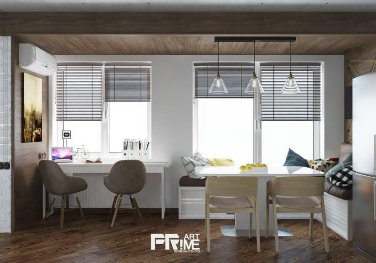 Квартира-студия Лофт: Рабочие кабинеты в . Автор – 'PRimeART',