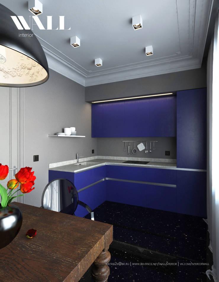 Квартира для молодой пары, ЖК <q>Царская Столица</q>: Кухни в . Автор – ДИЗАЙНЕР ИНТЕРЬЕРА САНКТ-ПЕТЕРБУРГ