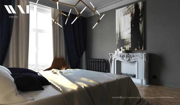 Квартира для молодой пары, ЖК <q>Царская Столица</q>: Спальни в . Автор – ДИЗАЙНЕР ИНТЕРЬЕРА САНКТ-ПЕТЕРБУРГ