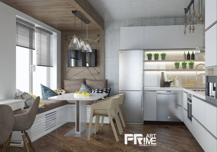 Квартира-студия Лофт: Кухни в . Автор – 'PRimeART'