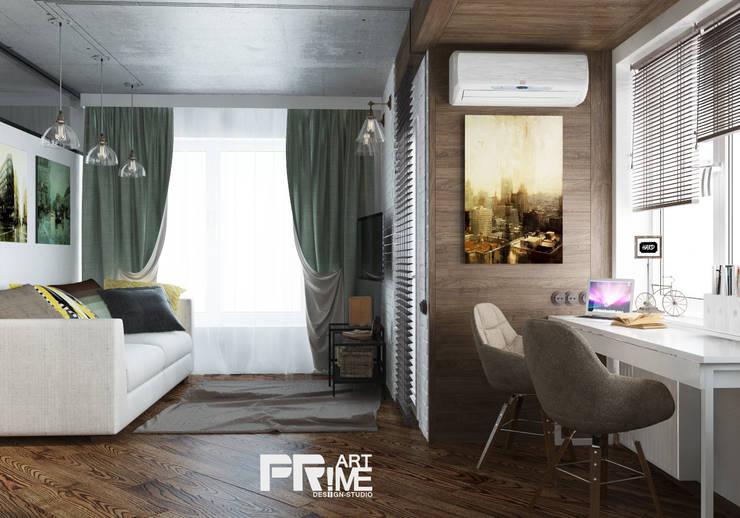 Квартира-студия Лофт: Гостиная в . Автор – 'PRimeART'
