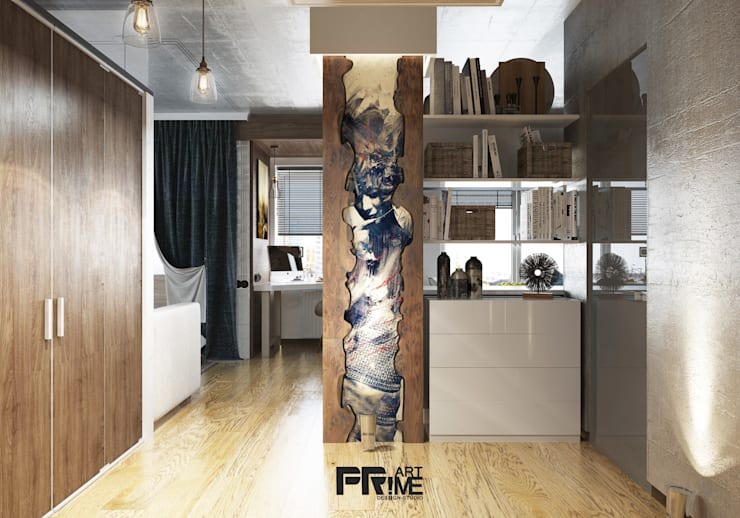 Квартира-студия Лофт: Коридор и прихожая в . Автор – 'PRimeART'