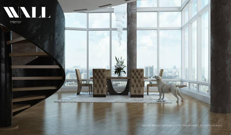Двухэтажные апартаменты в стиле Арт-Деко: Столовые комнаты в . Автор – ДИЗАЙНЕР ИНТЕРЬЕРА САНКТ-ПЕТЕРБУРГ