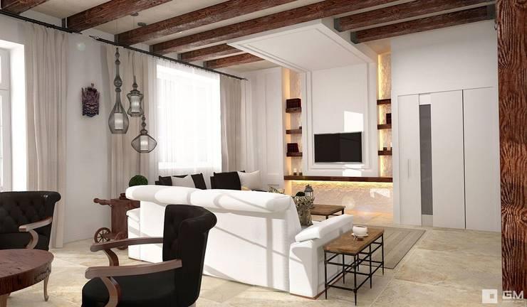 Интерьер дома в колониальном стиле : Гостиная в . Автор – GM-interior