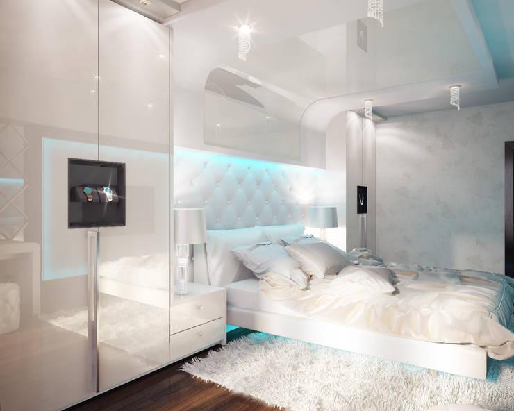Спальни в . Автор – DIZajio