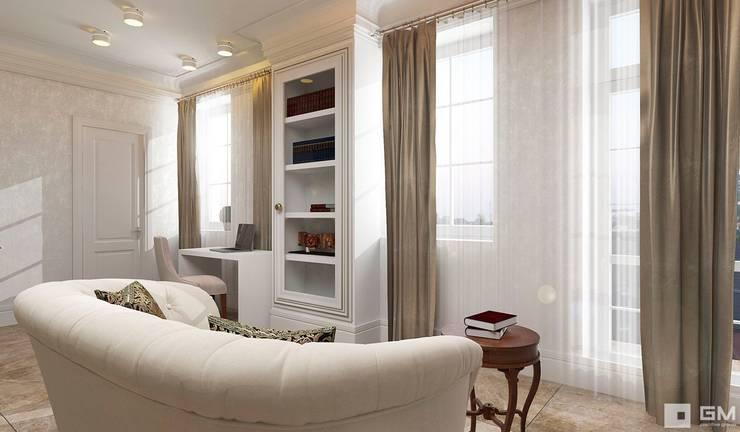 Интерьер дома в колониальном стиле : Рабочие кабинеты в . Автор – GM-interior