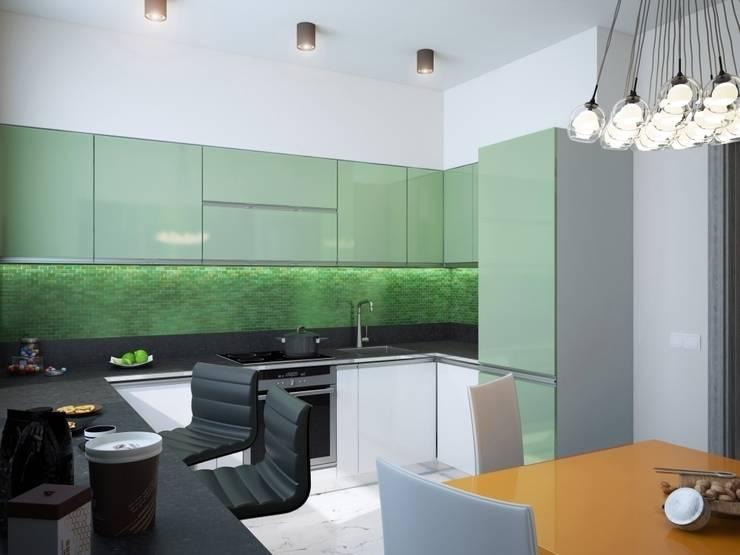 1-но комнатная квартира 37.36m²: Кухни в . Автор – PLANiUM