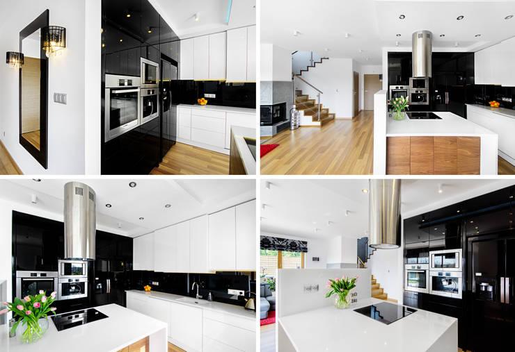 Dom jednorodzinny – Kraków.: styl , w kategorii Kuchnia zaprojektowany przez PR Architects Sp z o. o. Pala&Rodek