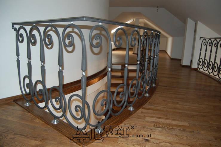 Balustrada - wzór B288: styl , w kategorii Korytarz, hol i schody zaprojektowany przez ALMET Kowalstwo Artystyczne