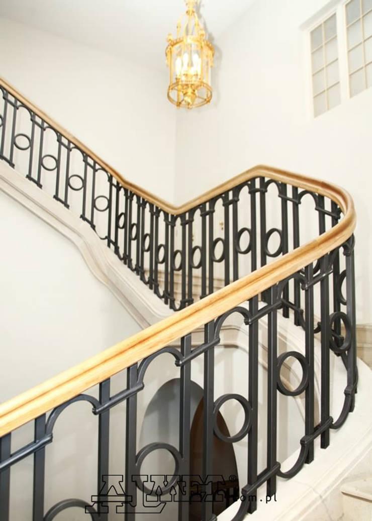 Balustrada schodowa – wzór B306: styl , w kategorii Korytarz, hol i schody zaprojektowany przez ALMET Kowalstwo Artystyczne