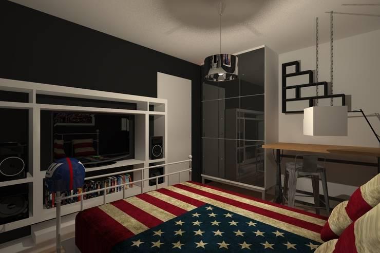 AMENAGEMENT INTERIEUR #007: Chambre de style  par HOME LAB'