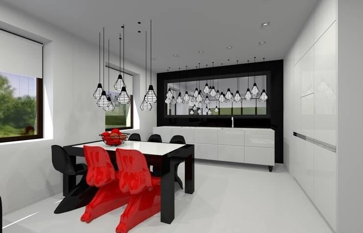Apartament prywatny – Kielce.: styl , w kategorii Kuchnia zaprojektowany przez PR Architects Sp z o. o. Pala&Rodek
