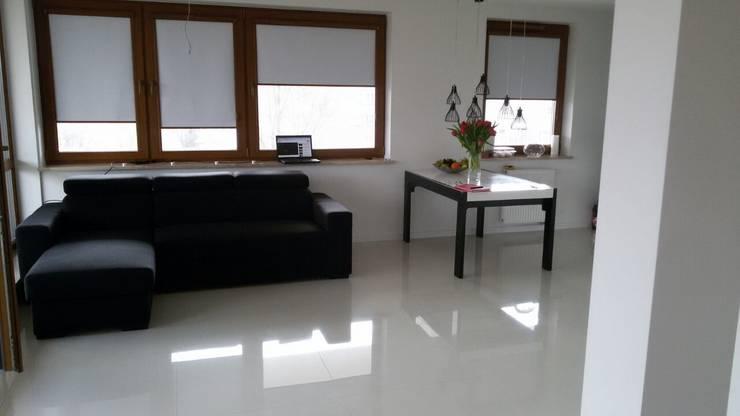 Apartament prywatny – Kielce.: styl , w kategorii Salon zaprojektowany przez PR Architects Sp z o. o. Pala&Rodek