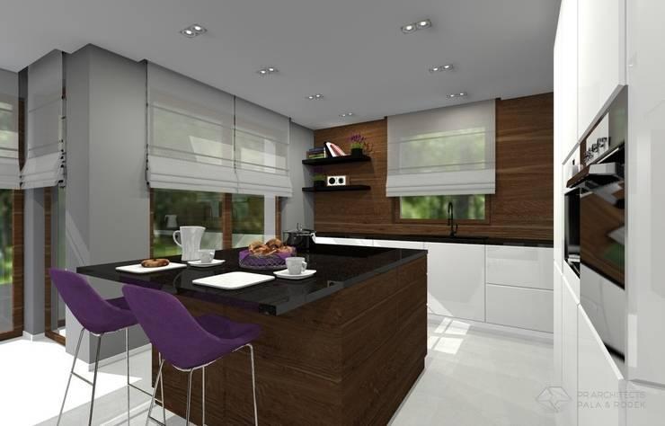 Dom jednorodzinny – Sławków.: styl , w kategorii Kuchnia zaprojektowany przez PR Architects Sp z o. o. Pala&Rodek