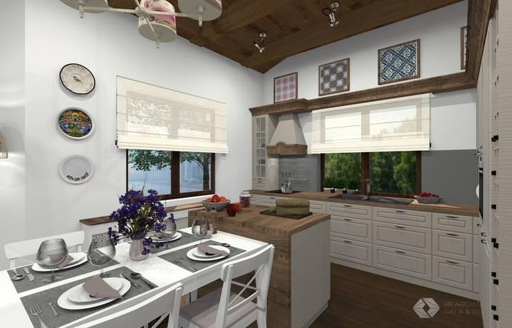 Dom jednorodzinny - Zator.: styl , w kategorii Jadalnia zaprojektowany przez PR Architects Sp z o. o. Pala&Rodek